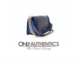 Chanel Blue Patent Leather Plexiglass Boy Bag Medium