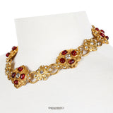 Chanel Red Gripoix and Crystal Choker
