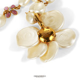 Chanel Ivory Pearl Camellia Necklace