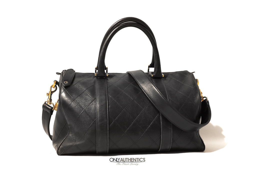 Chanel Black Leather Vintage Speedy Bag
