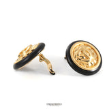 Chanel Gold Quilted CC Earrings