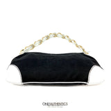 Chanel Black Canvas Shoulder Bag