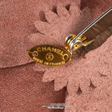 Chanel Camel Leather Camellia Flower Pin