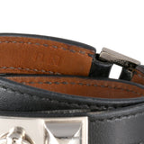 Hermès Black Leather Rivale Double Tour Bracelet