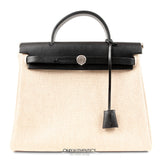 Hermès Black Toile Her Shoulder Bag