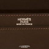 Hermès Espresso Evergrain Custom Shoulder Bag