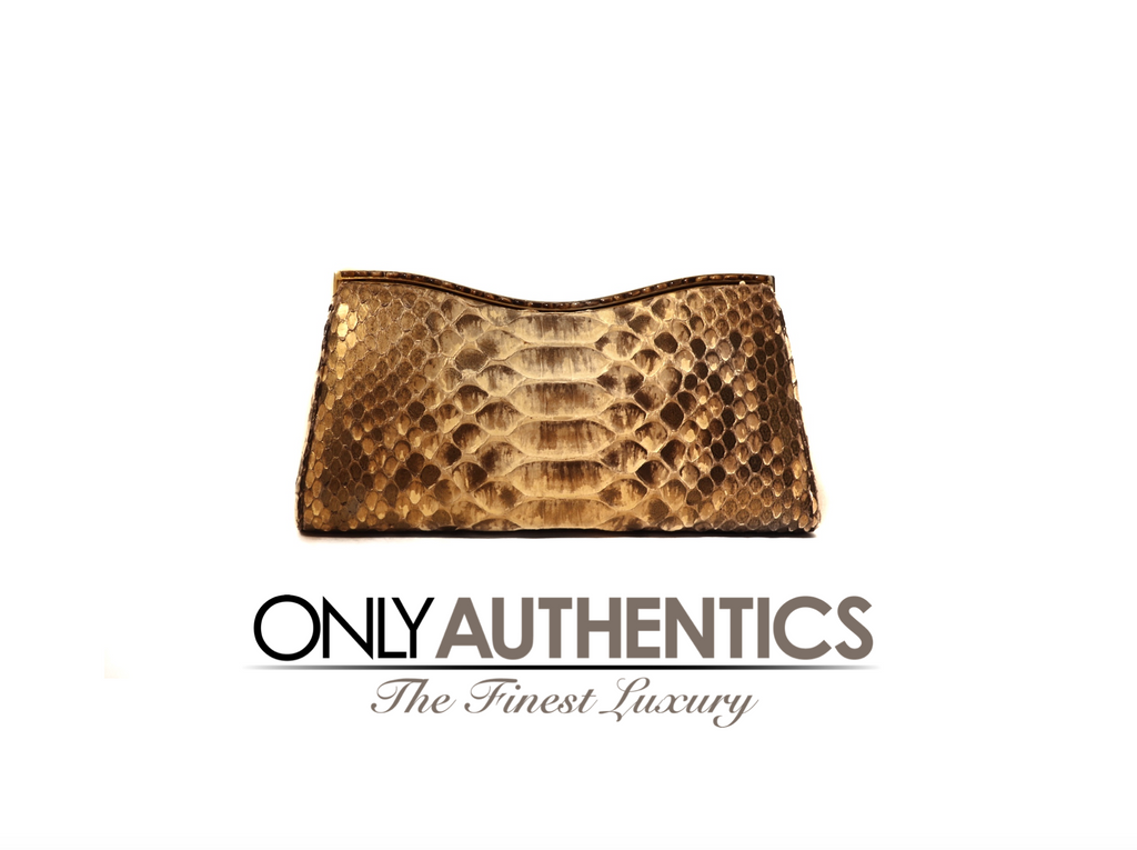 Judith Leiber Crocodile Evening Clutch