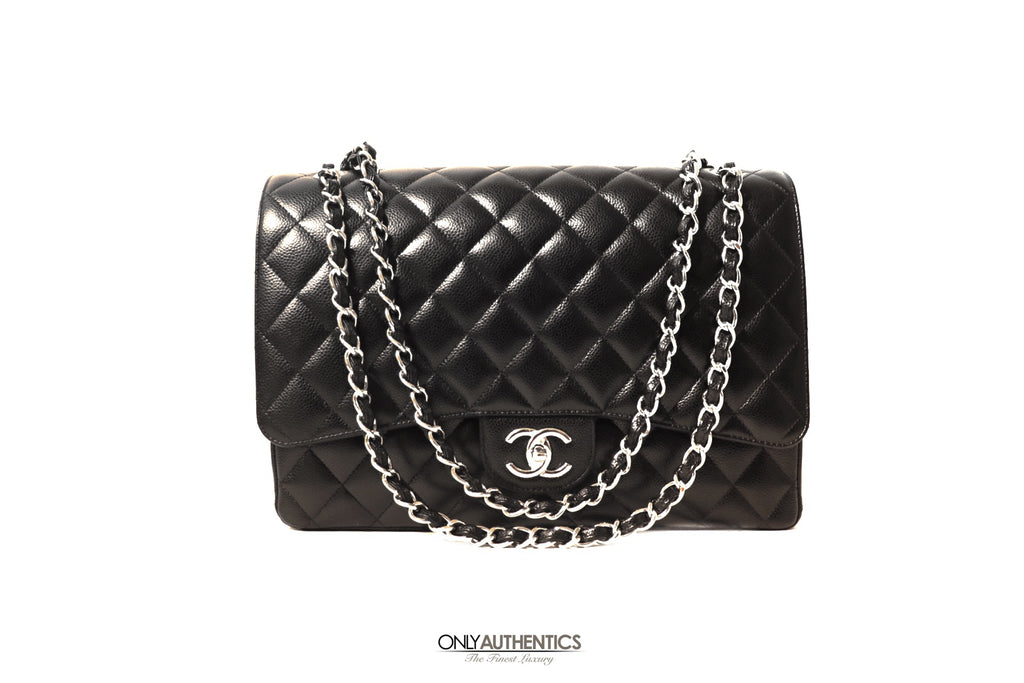 Chanel Black Caviar Maxi Flap Bag