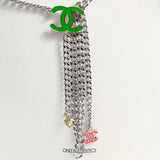 Chanel Silver Chain Neon CC Belt