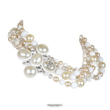 Chanel Pearl and Crystal Bead Multi Strand Choker