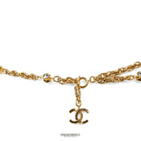 Chanel Gold Coin and Crystal Rock Necklace Belt