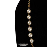 Chanel Gold Pearl Station Necklace