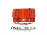 Chanel Coral Python Jumbo Flap Bag