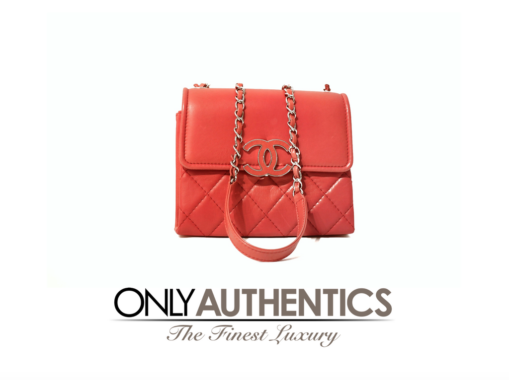 Chanel Red Lambskin Double Gusset Crossbody Bag