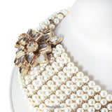 Chanel Multistrand Pearl Bib Runway Necklace