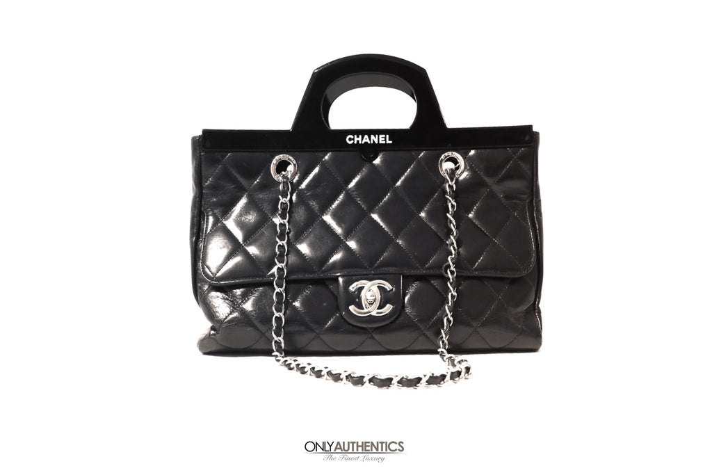 Chanel Black Calfskin CC Delivery Tote