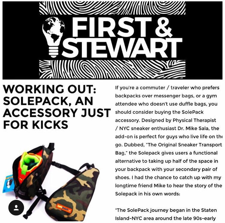 First and Stewart. Solepack, An accessory just for Kicks