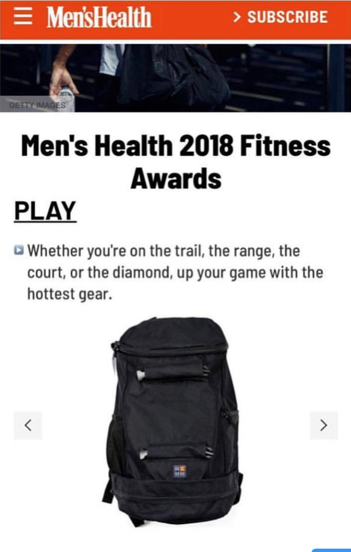 The Omega grabs a 2018 Men's Health Fitness Award.