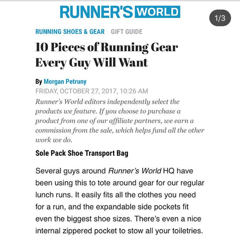 Runners world features Solepack for top holiday gifts!