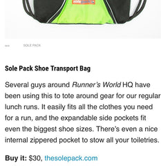 Runner's World packs with Solepack