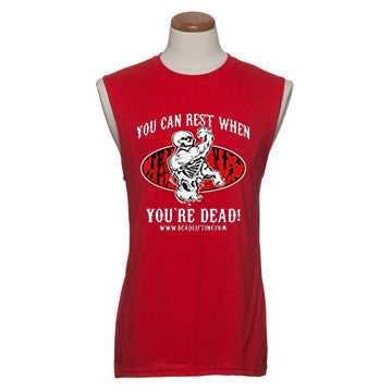 'Rest When You're Dead' - Mens Sleeveless