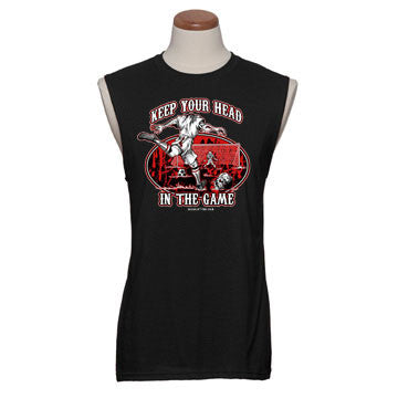 """KEEP YOUR HEAD IN THE GAME"" Sleeveless"