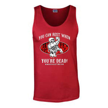 'Rest When You're Dead' T-Shirt - Mens Tank Top