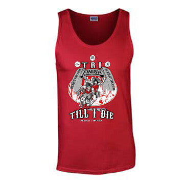 'Tri Till I Die' T-Shirt - Mens Tank Top