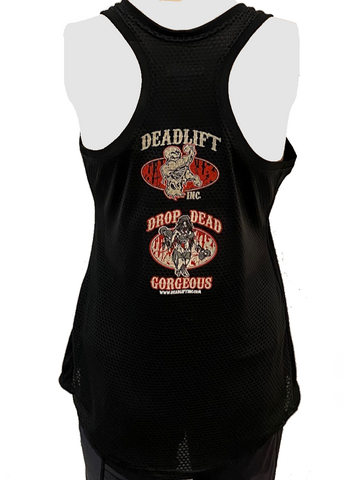 Ladies'Racerback Tank Top with Miniature Designs