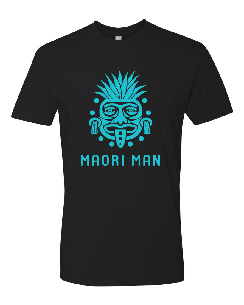 Men's Official Maori Tribesman Black Tee - Aqua Graphics