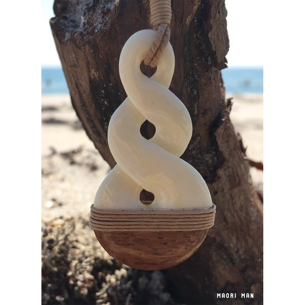 Maori Twist with Koa Wood Necklace