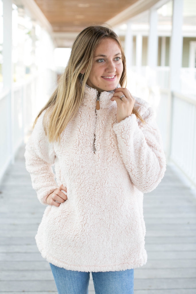Luxe Frosty Sherpa Pullover - 4 colors -  $24.00 x 6 Pack
