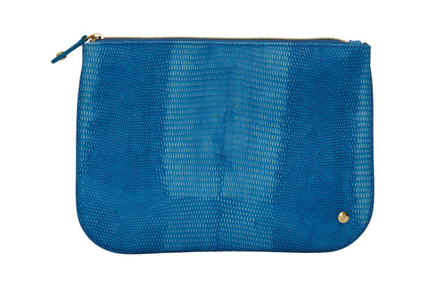 Large Flat Pouch - Galapagos Denim