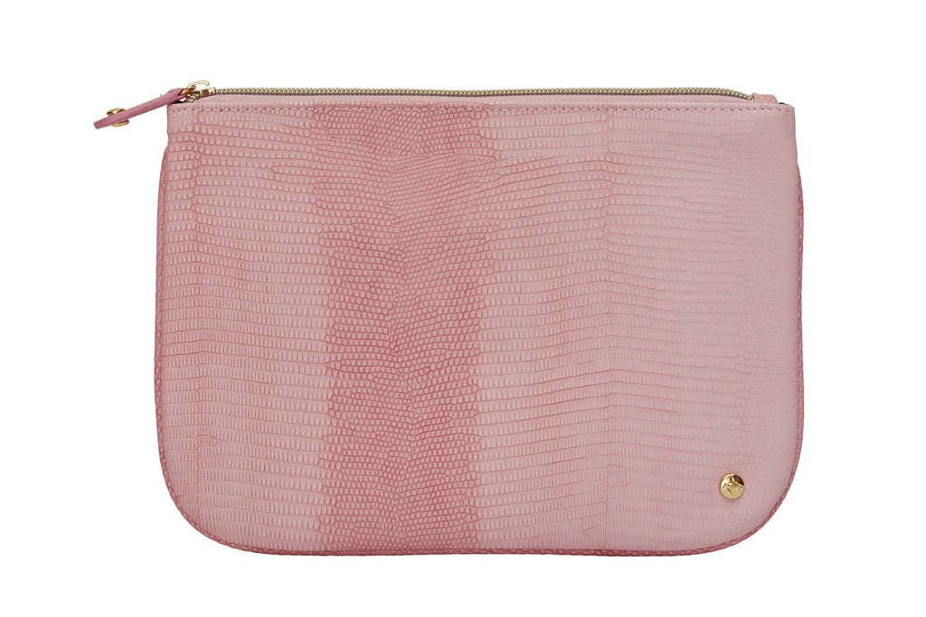Large Flat Pouch - Galapagos Rose
