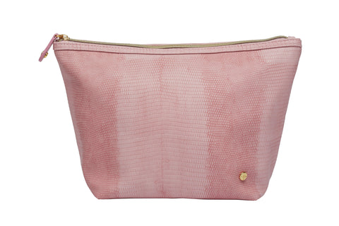 Laura Large Trapezoid Cosmetic Case - Galapagos Rose