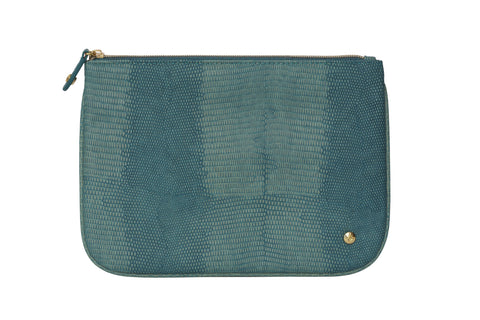 Large Flat Pouch - Galapagos Teal