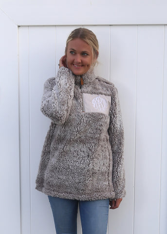 Luxe Grit Pullover with Monogram Patch - $22.00 x 8 Pack