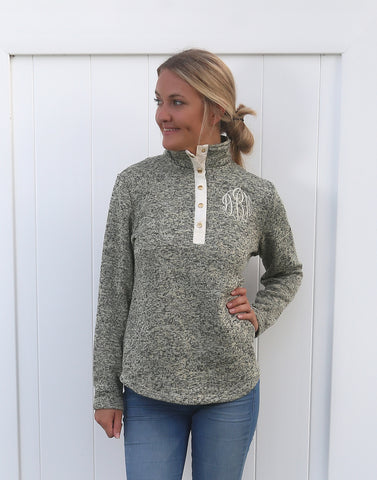 Marled Pullover with Snaps - $17.25 x 8 Pack
