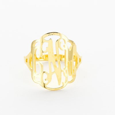 Flourish Gold Plated Ring