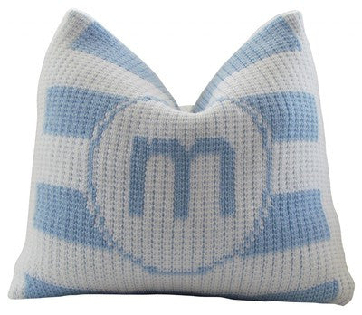 Modern Stripe Initial Pillow