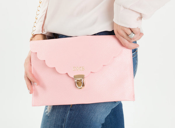 Personalized Scallop Clutch