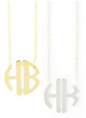 Two Initial Circle Necklace