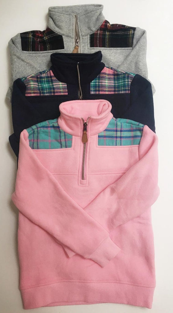 Kids Plaid Detail Pullover - $16.75 x 10 Pack