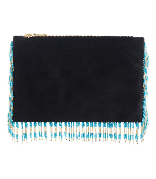 Lupita Beaded Tassel Clutch