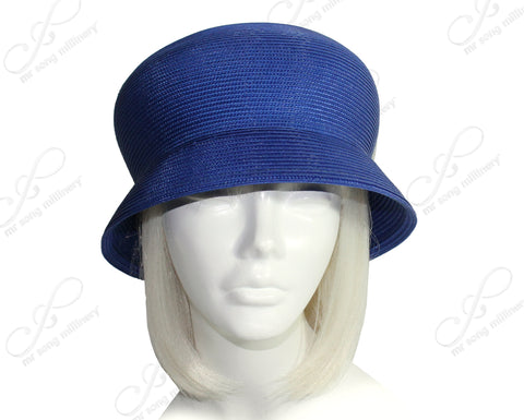 Mr. Song Millinery Tagline Straw Bubble Cloche Small Brim Hat Body - 2 Colors