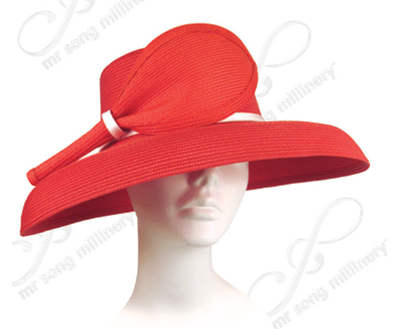 Mr. Song Millinery Tagline Straw Short Stem Leaf - Assorted Colors