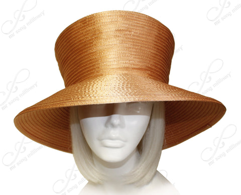 Satin-Crin Stovetop Crown Wide Brim Hat Body