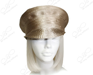 "Mr. Song Millinery Satin-Crin""Captain"" Bib-Hat Body - 2 Colors"