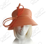 Medium Tiffany Brim Hat With Multi-Loop Knot Bow - 4 Colors