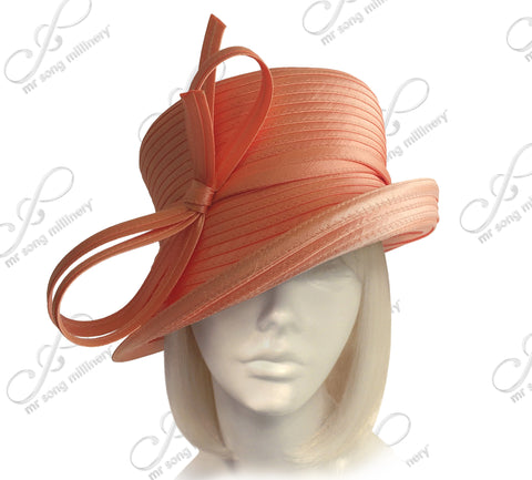 Medium Tiffany Brim Hat With Multi-Loop Knot Bow - Assorted Colors